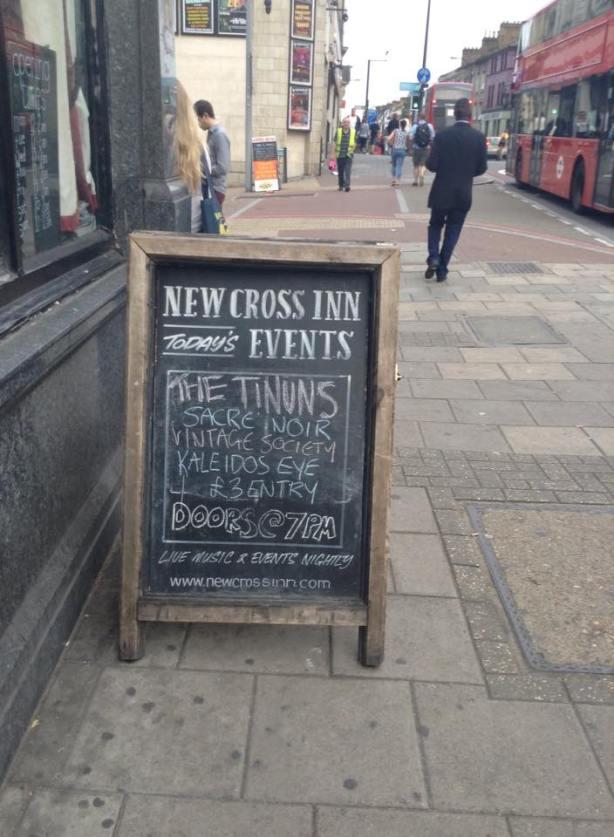 Chalkboard at The New Cross Inn
